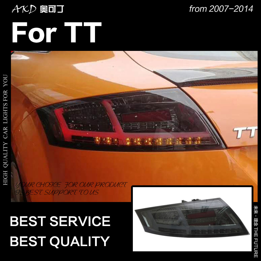 AKD Car Styling for Audi TT Tail Lights 2014 2016 TT LED Tail Lamp LED DRL Brake Dynamic Signal Reverse auto Accessories