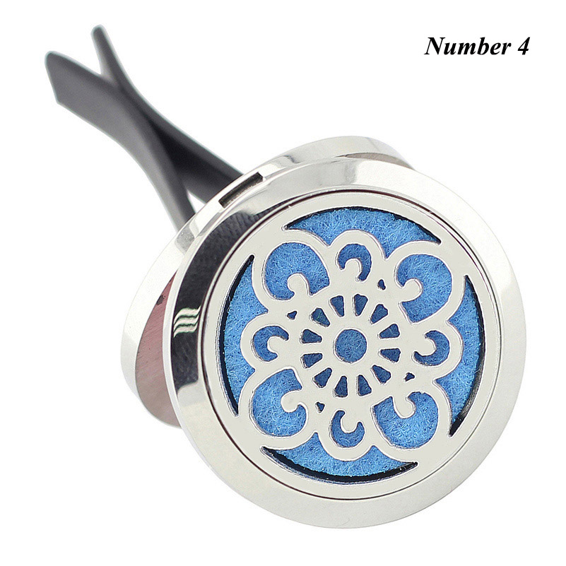 New Arrival 30mm 316 Stainless Steel Car Aromatherapy Essential Oil Diffuser Round Shape Lockets Magnetics Car Perfume Locket in Pendants from Jewelry Accessories