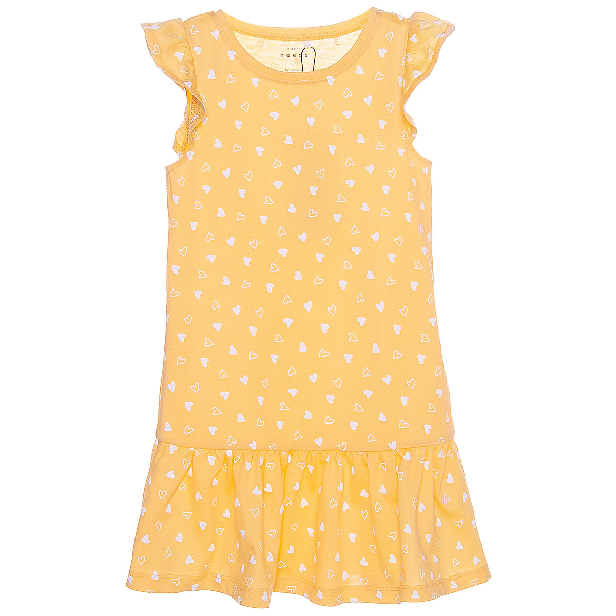 NAME IT Dresses 9384030 Dress girl children checkered pattern collar fitted silhouette sequins Cotton Casual Yellow Short Sleeve stylish short sleeve sequin embellished star pattern dress for women