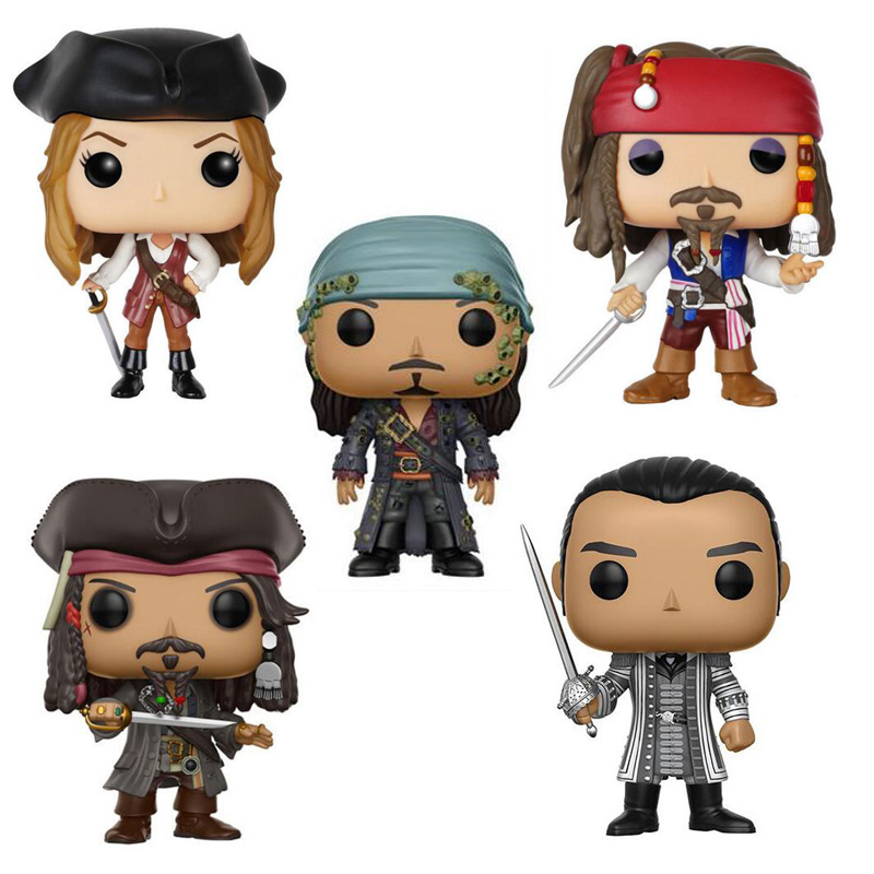 Pirates of the Caribbean 10cm Character Jack Sparrow Collection Figure Toys black pearl building blocks kaizi ky87010 pirates of the caribbean ship self locking bricks assembling toys 1184pcs set gift