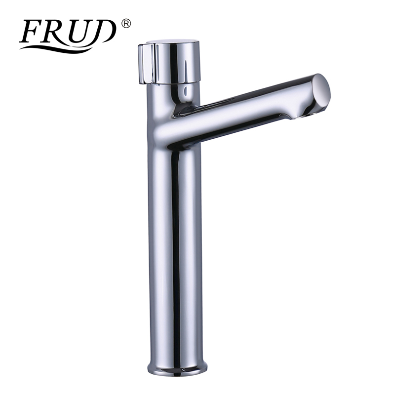FRUD New Style Hot Sale Basin Faucet Brass Platform Heightening Silver Bathroom Sink Tap Water Saving Basin Mixer Tap Y10079FRUD New Style Hot Sale Basin Faucet Brass Platform Heightening Silver Bathroom Sink Tap Water Saving Basin Mixer Tap Y10079
