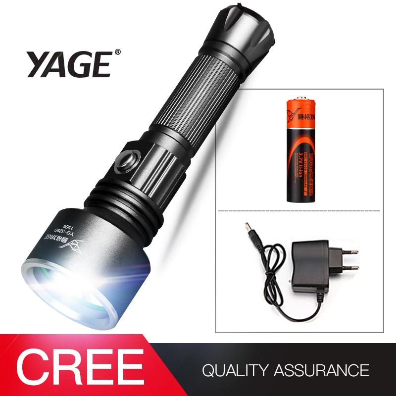 YAGE YG-329D Torch Light Waterproof CREE XP-E LED Flashlight Torch Light with 18650 Battery Portable ultra bright flashlight