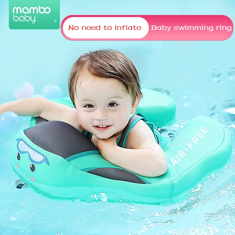5674fdf9c8 Air Inflation Free Inner Safety Baby Newborn Swimming Ring Float Swim Ring  floating Floats Swim Trainer