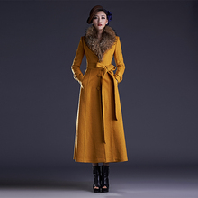 2016 Autumn and Winter New Fashion Women's Ultra Long Woolen Jacket Coat Keep Warm Cashmere Coat S-4XL Plus Size Female Overcoat
