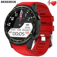 Beseneur F1 GPS smart watch mężczyźni Monitor pracy serca z kamerą karta SIM Bluetooth smartwatch dla Androida IOS zegarek telefon tanie tanio Elektroniczny Passometer Czas światowy Uśpienia tracker Tętna Tracker Kalkulatory Metrów wysokości Tracker fitness