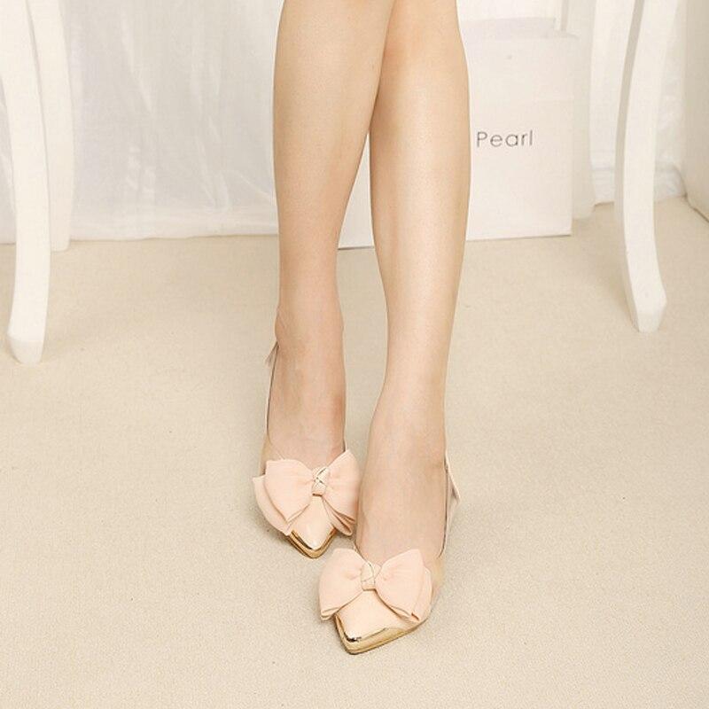 Grand De Marque Femmes Pointu Ballet Appartements Pour 40 Bout Transparent 33 Arc Chaussures Cravate Taille Base Filles wTvxFqxA0