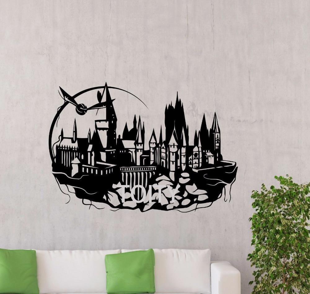 Hogwarts wall decal harry potter castle vinyl sticker kids - Hogwarts decal ...