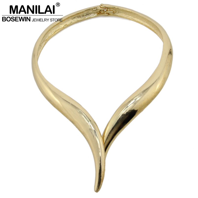 MANILAI Snake Design Bib Choker Necklace Women Big Torques Alloy Collar Statement Necklaces Maxi Chokers Female Brand Jewelry manilai trendy metal hollow torque choker necklaces women indian punk geometric collar statement necklace jewelry accessories