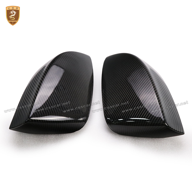 Carbon Fiber Side Wings Mirror Covers For Quattroporte ABS CF Replacement Style Covers Fit For Quattroporte Maserati 2017