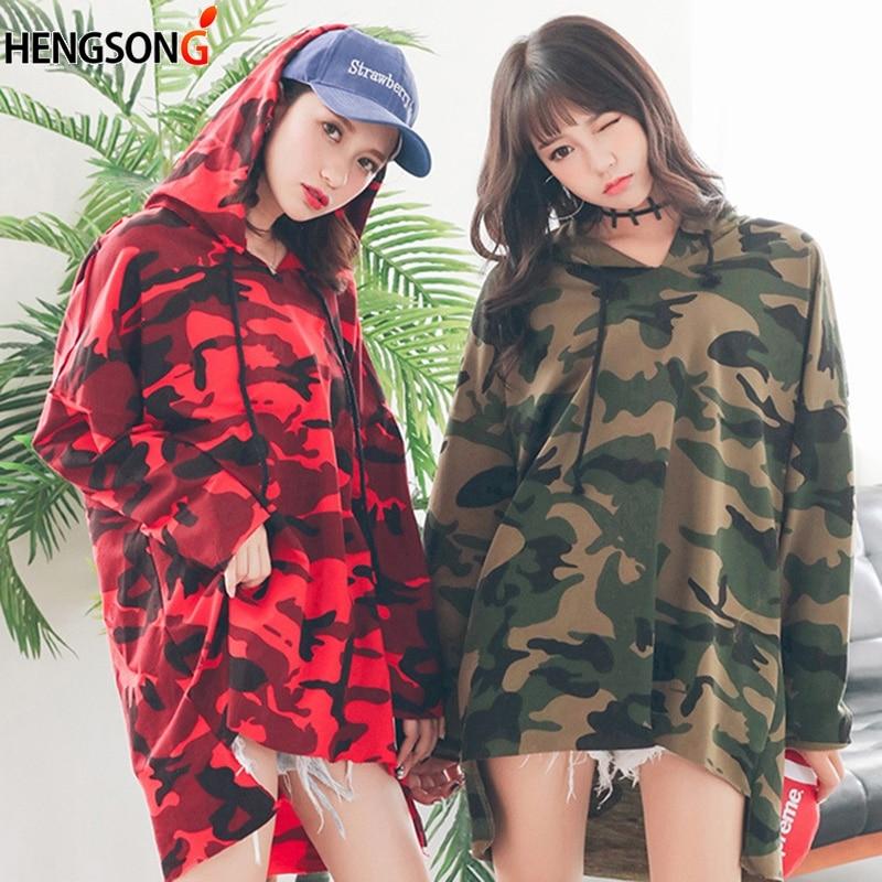 New Camo Camouflage Hoody Hoodie Hip Hop Women Pullovers Long Sleeve Straps Harajuku Women Hoodies Sweatshirt Plus Size