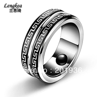 Free Shipping New Men S Fashion Titanium Steel Ring Health Care Ring 3 Lodestones Inlay Great