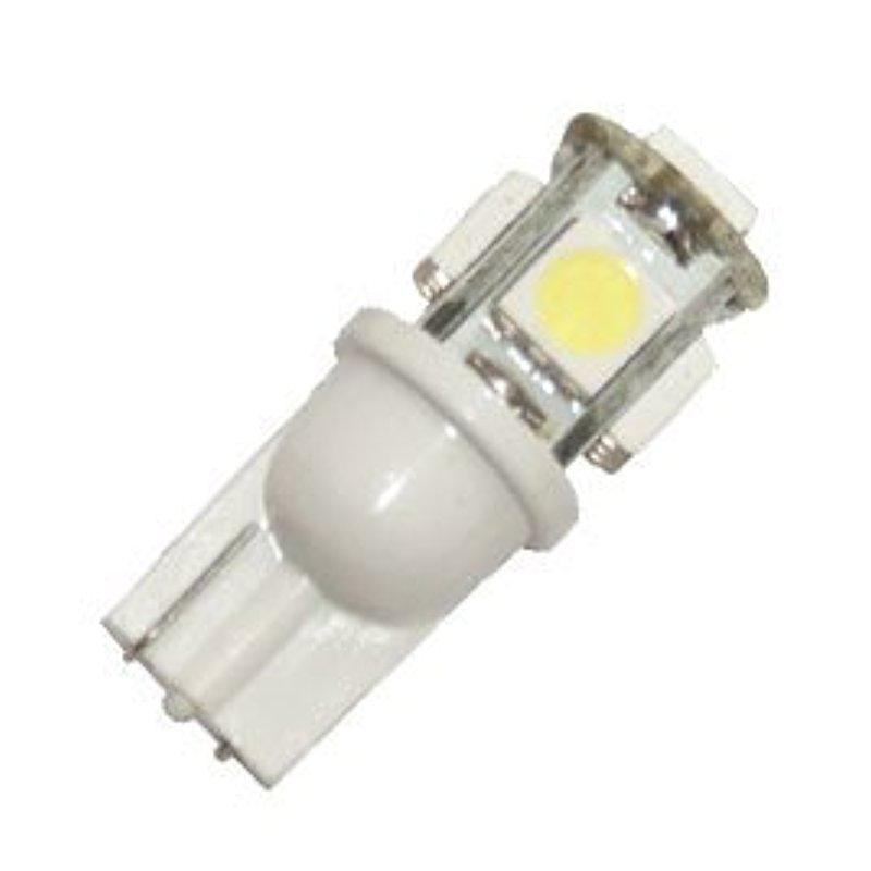 Dragonpad 10x LED Replacements for Malibu Landscape Light 5 Led smd Per Bulb 194 T10 T5 Wedge Base Cool White 12v Dc 1407ww in Signal Lamp from Automobiles Motorcycles