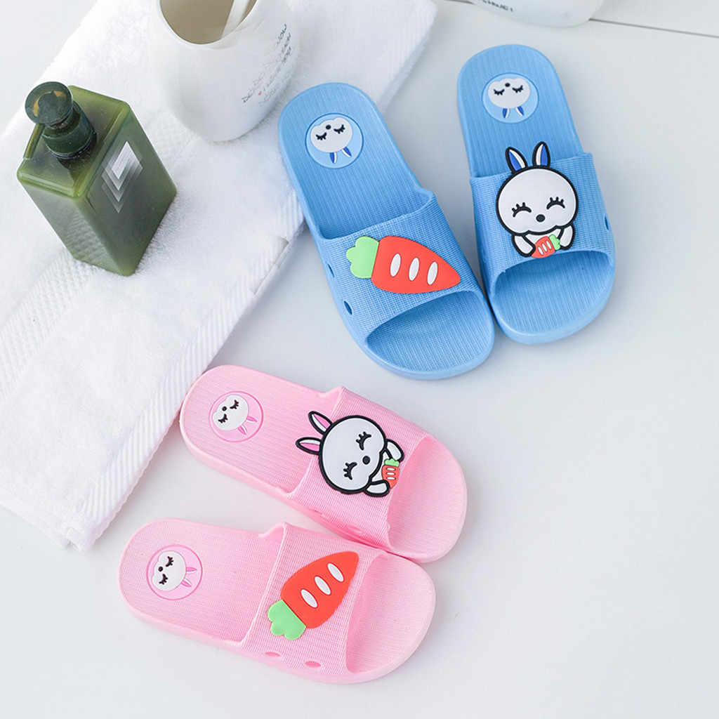 Children Indoor Shoes Home Casual Slippers Kid Boys Girl Family Bedroom Shoes Summer Children Beach Wear Sandals (US size)