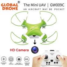 Global GW009C 2.4G 6 axis RC Mini quadcopter Drone Drone cámara HD fácil control Profesional Drones Estable Vuelo VS JJRC H37