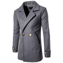 2018 Autumn Winter New Mens Solid Color Casual Business Woolen Coats Mens High quality Brand Slim