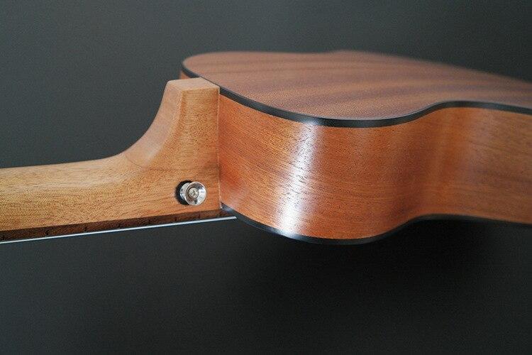 Ukulélé SevenAngel 28 pouces 6 cordes guitare hawaïenne Ukelele Sapele Uku instrument de musique ukulélé électrique avec micro EQ - 6