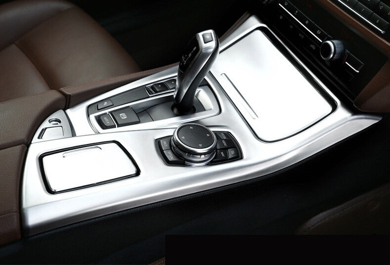 ABS Chrome Center Console Gear Shift Panel Decoration Cover Trim For BMW 5 Series f10 f18 520 525 530 2011-17 Auto Parts 3pcs for toyota highlander 2014 2015 abs auto interior chrome gear box panel modified hand brake trim decoration cover