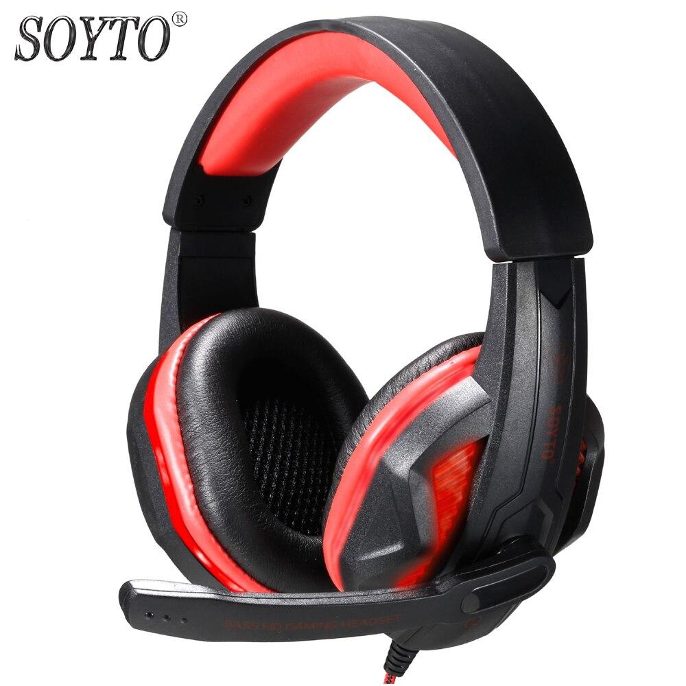 SOYTO SY711MV originaal juhtmega kõrvaklapid Gaming kõrvaklapid LED - Kaasaskantav audio ja video - Foto 2