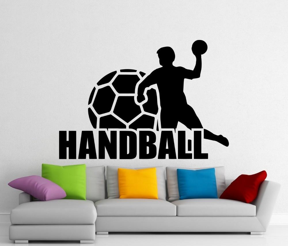Handball wall vinyl decal sports sticker home interior for Vinilos pared aliexpress