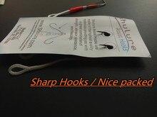 30pcs 15bags 9cm  fishing hooks for lead fish lure, combination assist hooks ,stainless steel jigging hooks