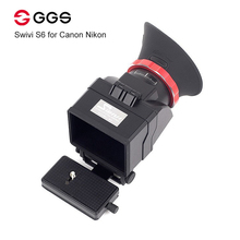 GGS Swivi S6 Viewfinder with 3/3.2 LCD Screen for Canon 5D2 5D3 6D 7D 70D 750D 760D for Nikon D7000 D7200 D750 D610 D810 D800 sevenoak sk vf pro 1 3 0x magnification flip up video viewfinder for canon nikon olympus lumix slr cameras 3 3 2 inch lcd screen
