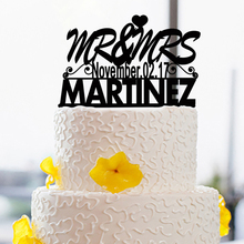 Personalized Wedding Cake Topper with Name and Date Design Mariage Wedding Cake Toppers Custom