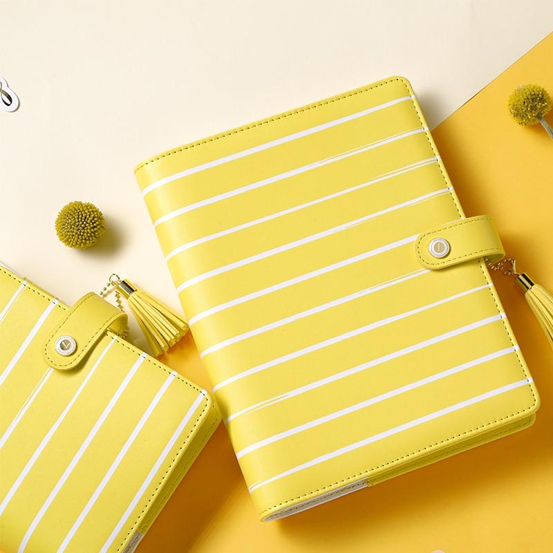 Lovedoki 2018 Spring Sunflower Yellow Notebook Personal Diary Macaron Planner Dokibook A5a6 Planner Office School Supplies 2018 dokibook transparent stamp seal lovedoki dialog seals scrapbook day planner diary notebook diy tool accessories