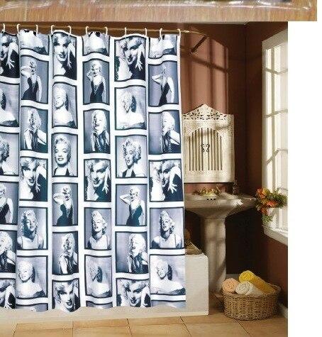 buy marilyn monroe shower curtain customized shower curtain waterproof bathroom fabric 180x180cm shower curtain for bathroom from reliable
