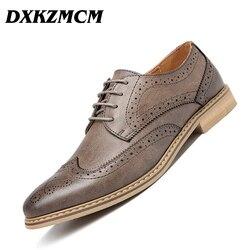 DXKZMCM Handmade Men dress shoes, black leather Men oxford shoes Men Flats Formal Shoes
