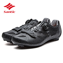 Santic/Мужская обувь для велоспорта; коллекция года; обувь для шоссейного велосипеда с самоблокирующимся замком; дышащая обувь для велоспорта; Sapatilha Ciclismo