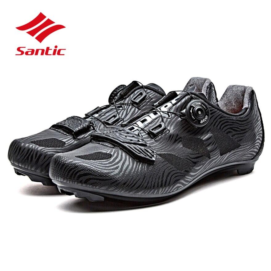 Santic Cycling Shoes Men 2018 Self-Locking Road Bike Shoes Breathable Tour De France Pro Bicycle Lock Shoes Sapatilha Ciclismo santic men pro cycling shoes road bicycle shoes breathable