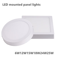 18w 25W led Surface mounted downlights Round panel light SMD2835 ceiling lamp 110v to 240v