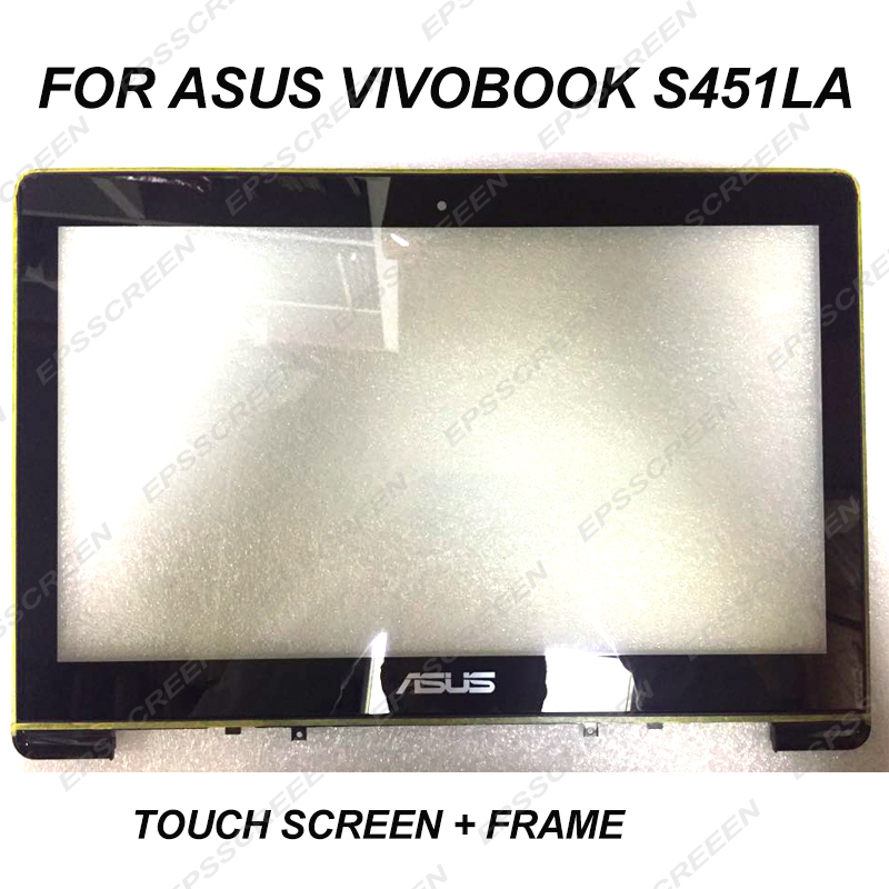 new Touch Screen For ASUS VivoBook S451LA 14 LCD touch digitizer panel+ bezel front glass monitor with framenew Touch Screen For ASUS VivoBook S451LA 14 LCD touch digitizer panel+ bezel front glass monitor with frame