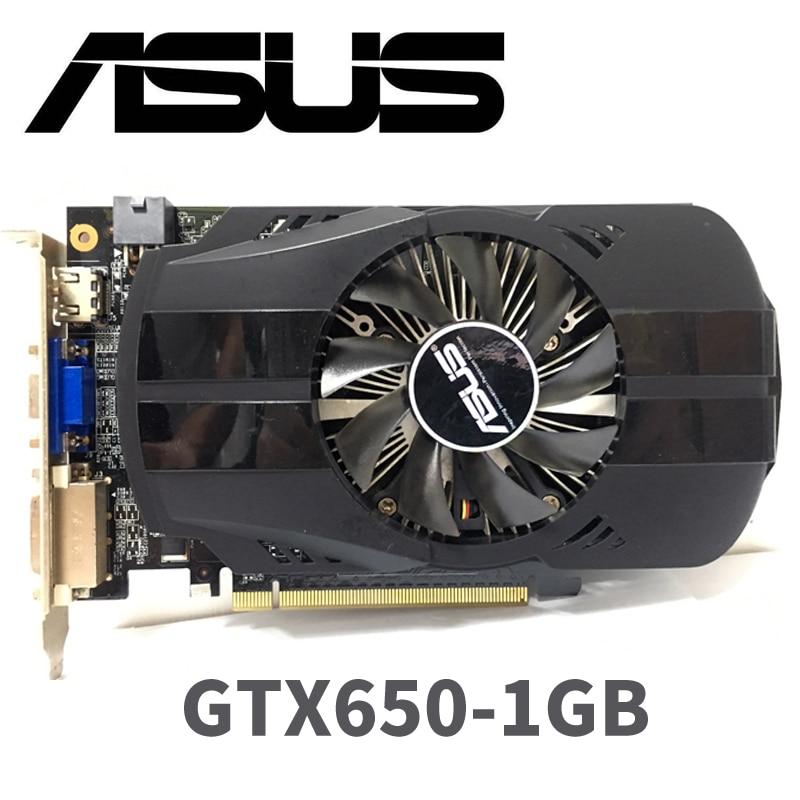 Asus GTX-650-FMLII-1GB 1G D5 DDR5 128 Bit PC Desktop  PCI Express 3.0  PC Asus GTX650  1GB Original Computer Graphics Card