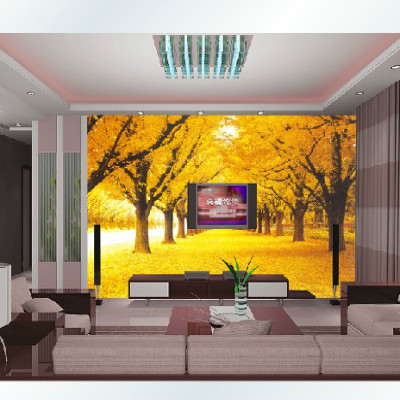 Custom 3D stereoscopic large mural wallpaper wall paper fabric living room sofa TV background golden maple leaves Romantic custom photo wallpaper 3d stereoscopic cave seascape sunrise tv background modern mural wallpaper living room bedroom wall art