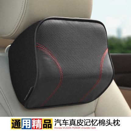 Autostiiliga mäluvaht ehtsast nahast autokaela kaela peatoe padi Honda BMW Audi jaoks