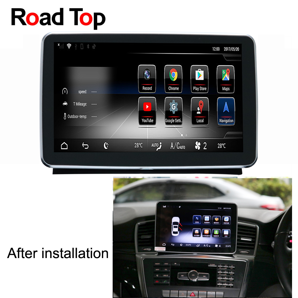 9 Android 5 Quad 4-Core CPU 1+16G Car Radio GPS Navigation Bluetooth WiFi Head Unit Screen for Mercedes Benz M ML W166 GL X166