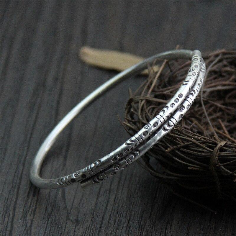 C & R Reale Dell'argento Sterlina 999 del braccialetto per le donne Dell'annata del braccialetto Retro Thai Argento bracciali Fine Jewelry regolabile-in Bracciali e braccialetti da Gioielli e accessori su  Gruppo 1