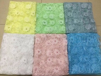 White Lace Fabrics For African Parties, yellow green beads sequins Wedding Lace Embroidered Fabric, Good African Lace Fabric