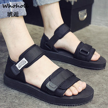 Fashion Man Beach Sandals 2018 Summer Gladiator Men's Outdoor Shoes Roman Men Casual Shoe Flip Flops Large Size 44 Slippers Flat стоимость