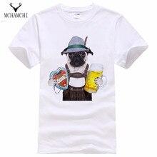 MCHAMCHI MM mode lässig Hunde Mops T Shirts Männer 3d t-shirt Man Umzug Burg O Neck T-Shirt Star Wars Übersteigt T-stücke Shirt