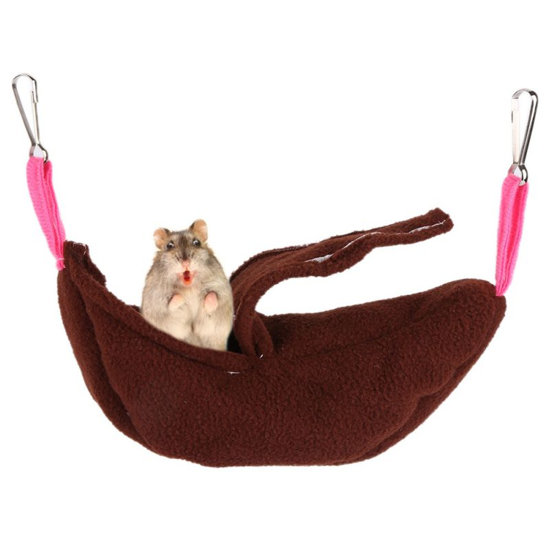 Colorful Rat Hamster House Hammock Bunk Bed Banana Shape House Toys Cage For Sugar Glider Small Animal Bird Pet Supplies