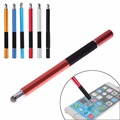 New Promotion 2 in1 Precision Capacitive Touch Screen Stylus Pen For iPhone Pad for Samsung Tablets Phones Wholesale Free Ship