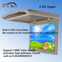 15.6 Inch Bus Coach Roof Mount Car LCD Monitor Flip Down Screen Overhead Multimedia Video AD Player Ceiling Roofmount Display