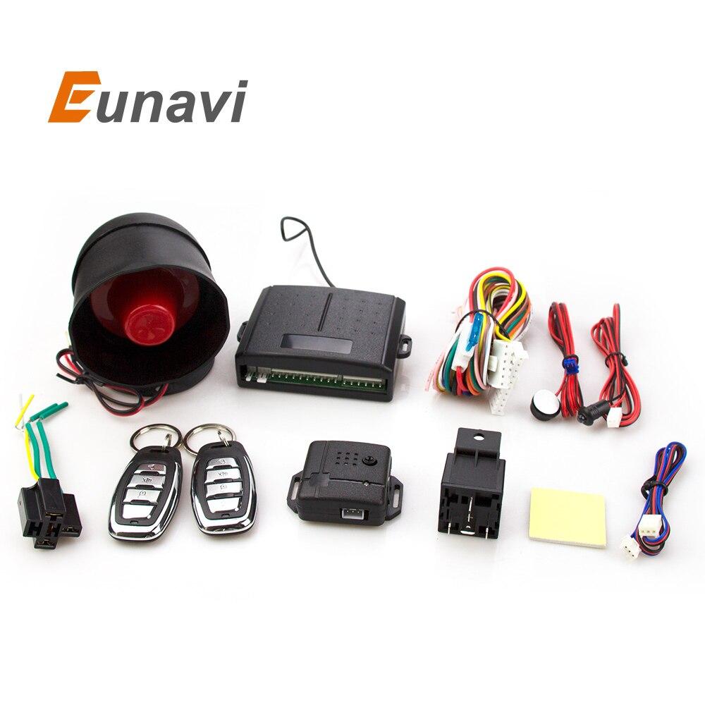 أنظمة ووسط eunavi 102 طريقة واحدة إنذار السيارات سيارة قفل الباب الأمن الرئيسية مع التحكم عن