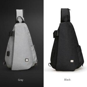 Image 5 - Mark Ryden nouveautés USB Design haute capacité poitrine sac hommes Crossbody sac costume pour 9.7 pouce Pad hydrofuge sac à bandoulière