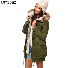 Down Parkas 2017 winter new Slim warm coat jacket Fashion Ms hooded quilted long section Nagymaros collar coat womens clothing