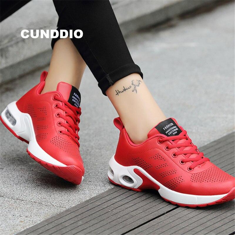 Nouvelles chaussures femmes chaussures décontractées en cuir maille baskets femmes mode coussin coussin Air amortissement chaussures zapatos mujer tenis feminino