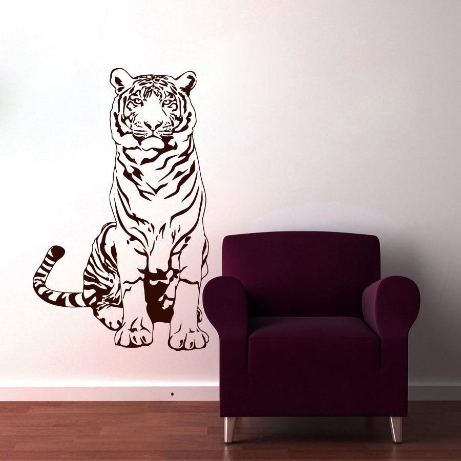 Black Animal Tiger Wall Sticker For Kids Room Decorations ...