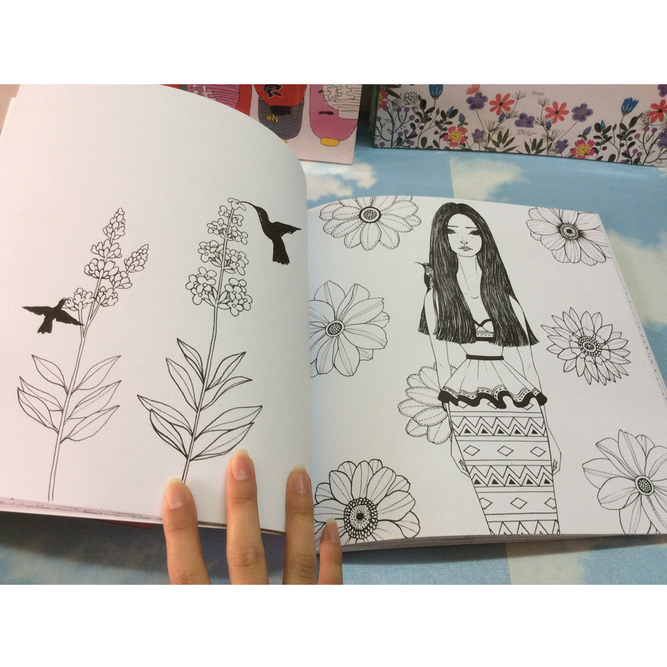 Image 3 - 96 pages Korea Dream Girl Coloring Books For adults Colouring Book Graffiti Painting libro colorear adultos art coloring books-in Books from Office & School Supplies